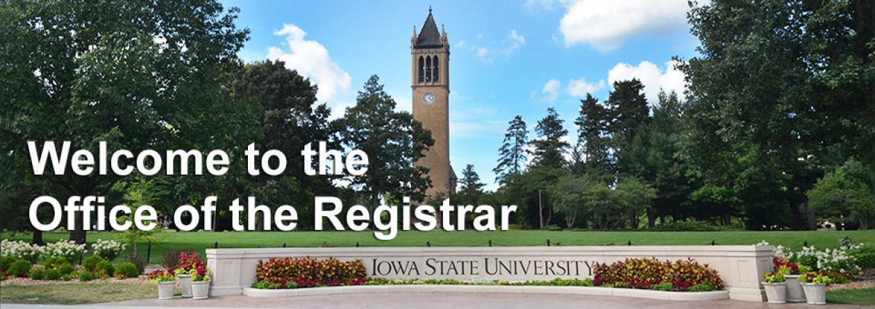 Campanile and ISU sign